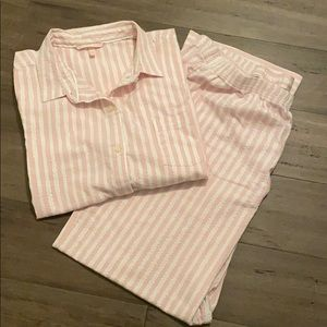 Victoria's Secret pink stripe pajamas